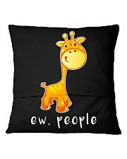Giraffe ew people - HL Square Pillowcase back