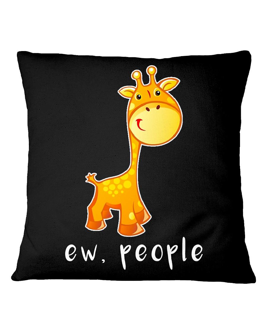 Giraffe ew people - HL Square Pillowcase