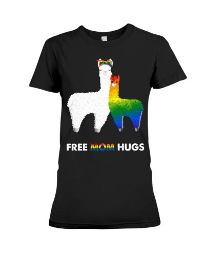 LGBT Mom Rainbow Heart Flag Hugs Alpaca Llama