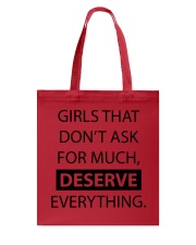 Girls deserve everything - AS Tote Bag front