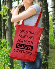 Girls deserve everything - AS Tote Bag lifestyle-totebag-front-4