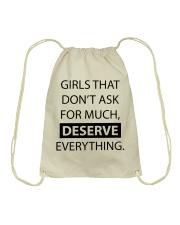 Girls deserve everything - AS Drawstring Bag thumbnail