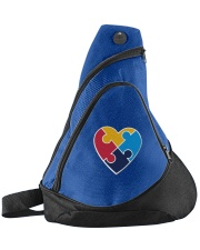 Embroidered Autism Heart Sling Pack thumbnail