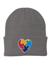 Embroidered Autism Heart Knit Beanie thumbnail