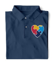 Embroidered Autism Heart Classic Polo thumbnail