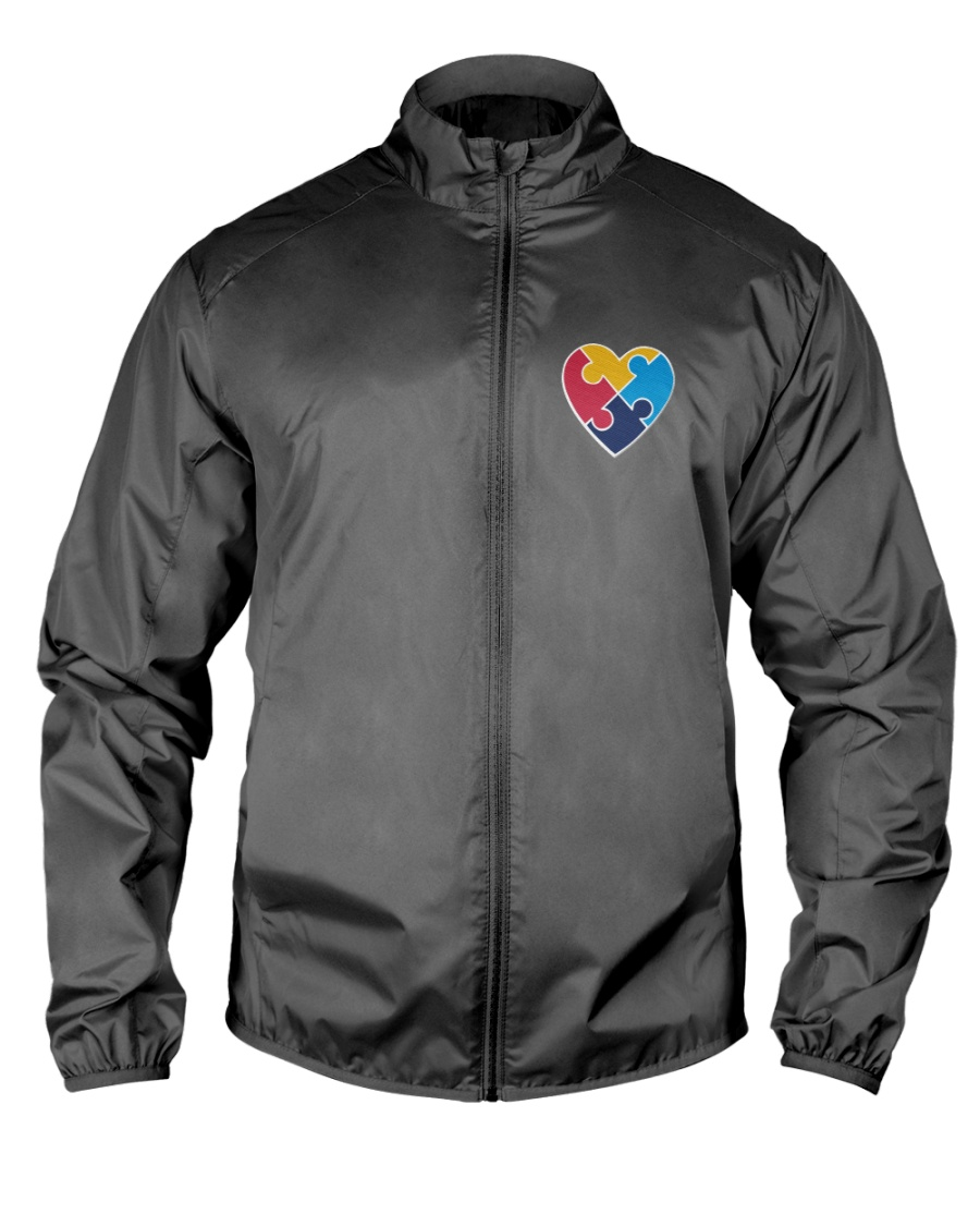 Embroidered Autism Heart Lightweight Jacket