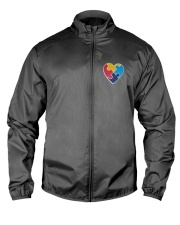 Embroidered Autism Heart Lightweight Jacket thumbnail