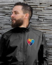 Embroidered Autism Heart Lightweight Jacket garment-embroidery-jacket-lifestyle-06