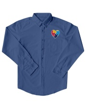 Embroidered Autism Heart Dress Shirt front