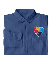 Embroidered Autism Heart Dress Shirt garment-embroidery-dressshirt-lifestyle-05