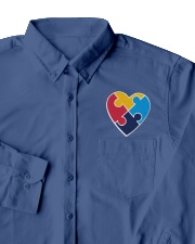 Embroidered Autism Heart Dress Shirt garment-embroidery-dressshirt-lifestyle-06
