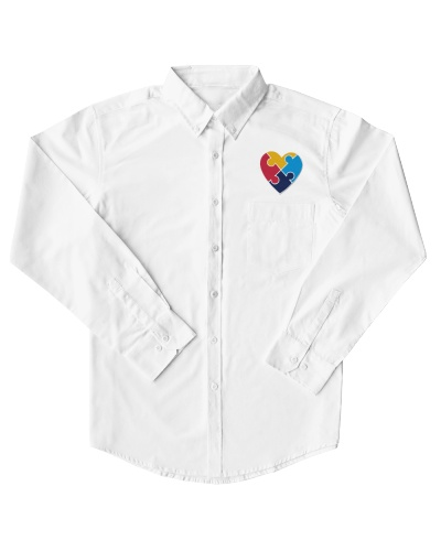 Embroidered Autism Heart