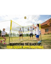 badALV3 Four Sided Volleyball Net - Large front-09