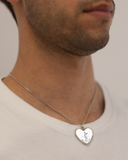 Festina Lente Jewelry Metallic Heart Necklace aos-necklace-heart-metallic-lifestyle-2