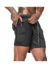 shortChido Men's 2 in 1 Fitness Shorts front-02