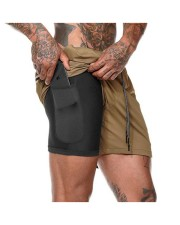 shortChido Men's 2 in 1 Fitness Shorts front-04