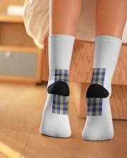 Woven Pattern Crew Length Socks aos-accessory-crew-length-socks-lifestyle-back-01