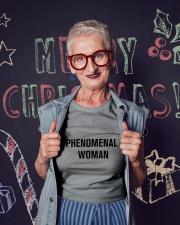 Phenomenal Woman Ladies T-Shirt lifestyle-holiday-crewneck-front-3