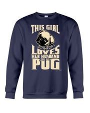 GIRL LOVES HER PUG COUPON Crewneck Sweatshirt thumbnail