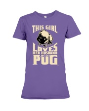 GIRL LOVES HER PUG COUPON Premium Fit Ladies Tee thumbnail