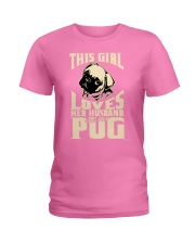GIRL LOVES HER PUG COUPON Ladies T-Shirt tile