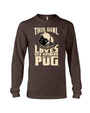 GIRL LOVES HER PUG COUPON Long Sleeve Tee thumbnail
