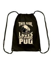 GIRL LOVES HER PUG COUPON Drawstring Bag thumbnail