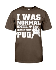 I WAS NORMAL UNTIL PUG COUPON Premium Fit Mens Tee thumbnail