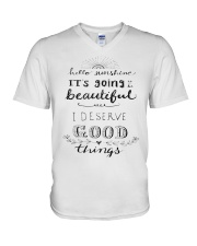 HELLO SUNSHINE - GOOD THINGS V-Neck T-Shirt thumbnail
