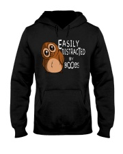 Easily Distracted By Boobs Hooded Sweatshirt front