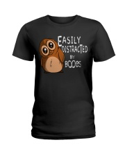 Easily Distracted By Boobs Ladies T-Shirt thumbnail
