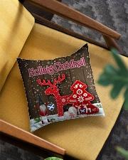 GAELIC MERRY CHRISTMAS - Nollaig Chridheil Square Pillowcase aos-pillow-square-front-lifestyle-07