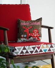 GAELIC MERRY CHRISTMAS - Nollaig Chridheil Square Pillowcase aos-pillow-square-front-lifestyle-09