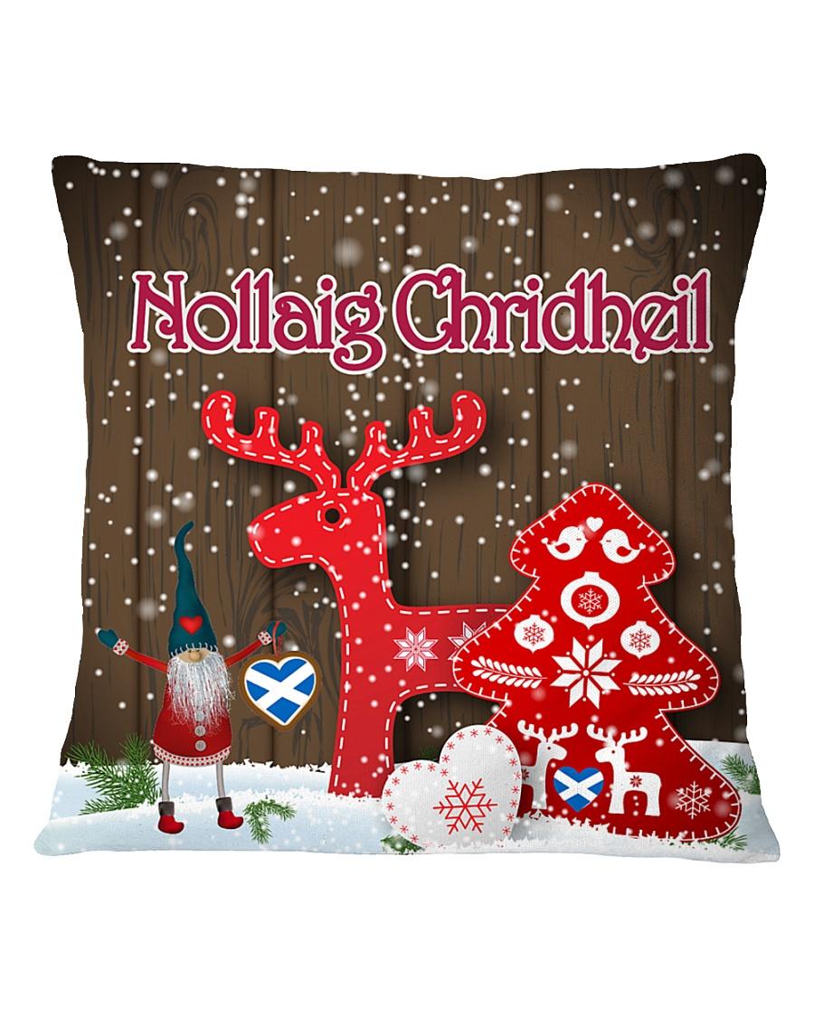 GAELIC MERRY CHRISTMAS - Nollaig Chridheil Square Pillowcase