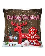 GAELIC MERRY CHRISTMAS - Nollaig Chridheil Square Pillowcase front