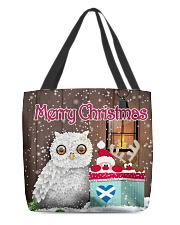SCOTTISH MERRY CHRISTMAS All-over Tote thumbnail