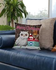 SCOTTISH MERRY CHRISTMAS Square Pillowcase aos-pillow-square-front-lifestyle-02