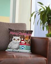 SCOTTISH MERRY CHRISTMAS Square Pillowcase aos-pillow-square-front-lifestyle-03