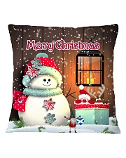 CUTE SNOWMAN SCOTTISH MERRY CHRISTMAS Square Pillowcase front