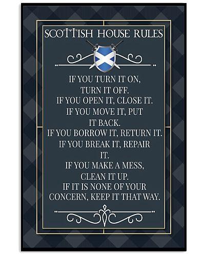 SCOTTISH HOUSE RULES
