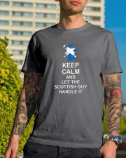 KEEP CALM AND LET THE SCOTTISH GUY HANDLE IT Premium Fit Mens Tee lifestyle-mens-crewneck-front-8