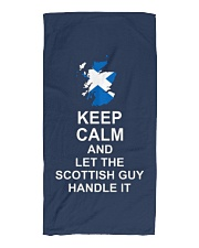 KEEP CALM AND LET THE SCOTTISH GUY HANDLE IT Beach Towel thumbnail
