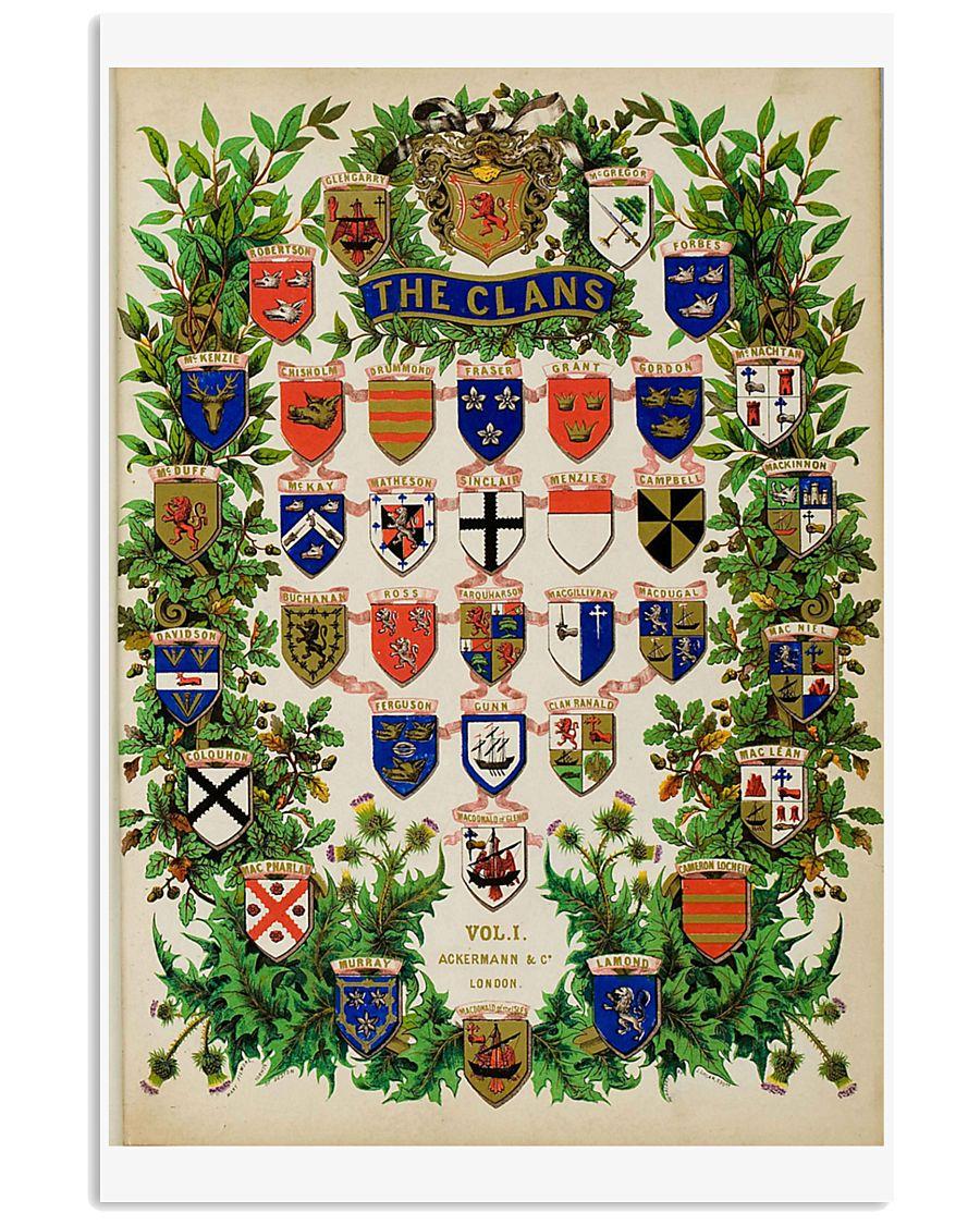 Scotland Clans VINTAGE REPRINT 11x17 Poster