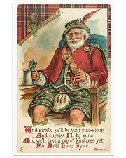CHRISTMAS GREETINGS - SCOTTISH SANTA 11x17 Poster front