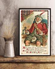 CHRISTMAS GREETINGS - SCOTTISH SANTA 11x17 Poster lifestyle-poster-3