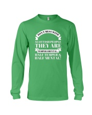 DON'T MESS WITH SCOTTISH PEOPLE Long Sleeve Tee thumbnail