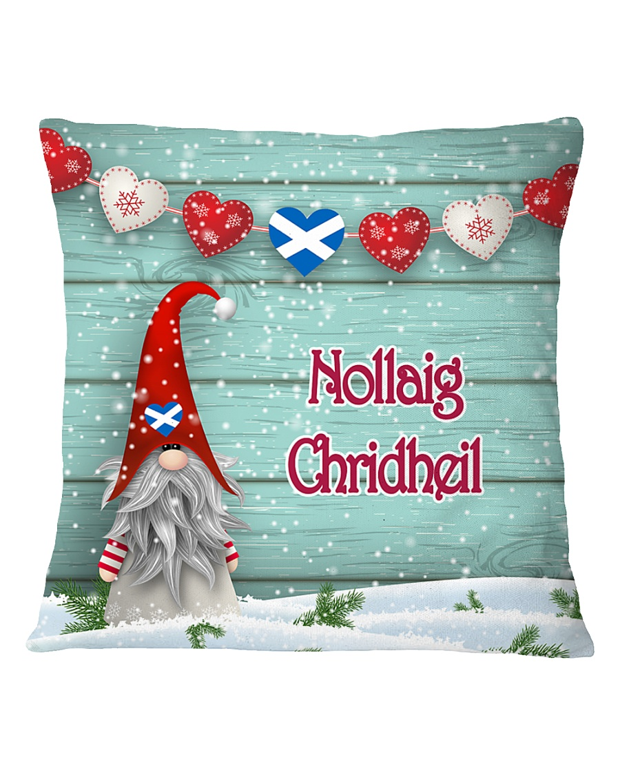 GAELIC MERRY CHRISTMAS Square Pillowcase