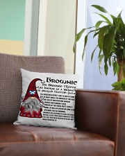 BROWNIE SCOTTISH Square Pillowcase aos-pillow-square-front-lifestyle-03
