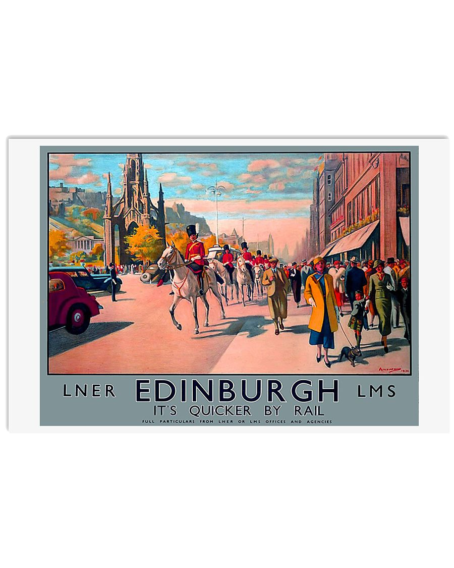 EDINBURGH TRAVEL VINTAGE REPRINT 17x11 Poster