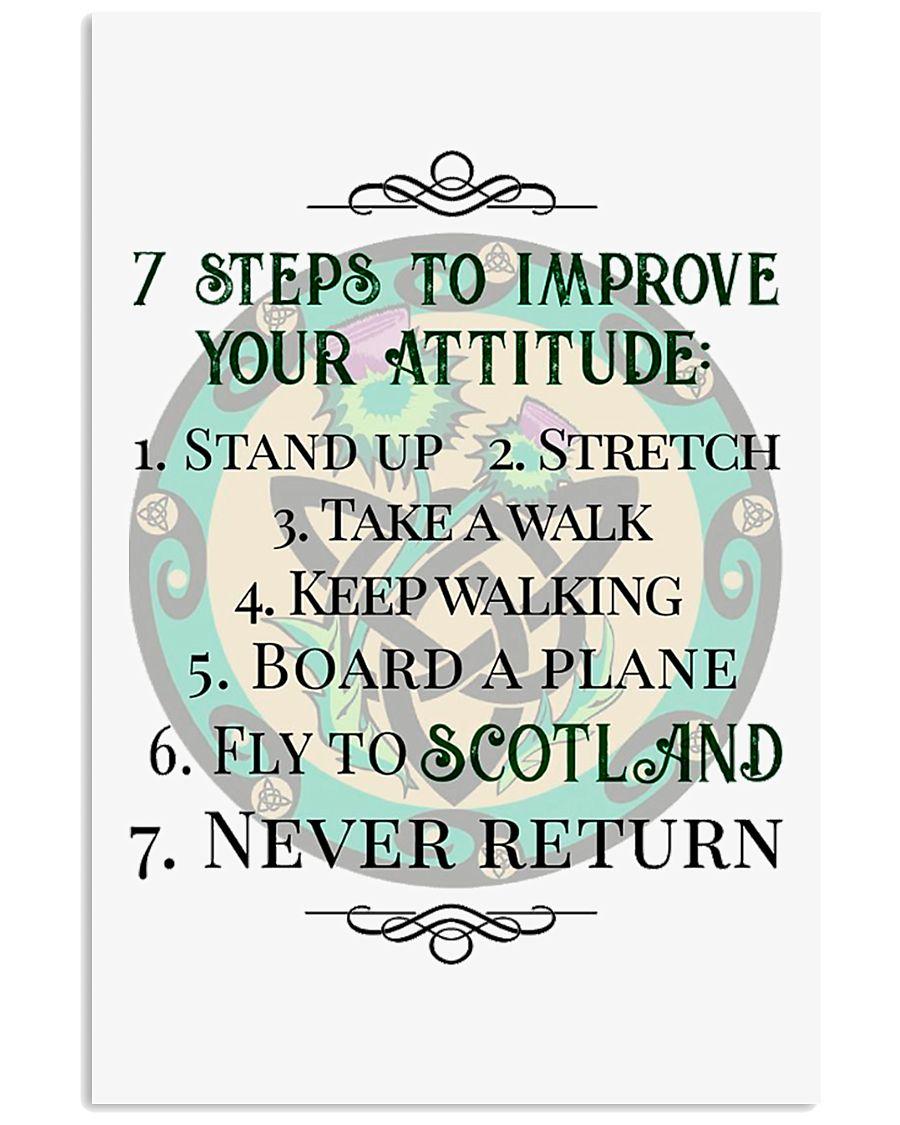 7 STEPS TO IMPROVE YOUR ATTITUDE SCOTLAND 11x17 Poster